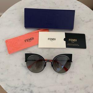 Fendi Accessories - Fendi Eyeshine Matte Black Sunglasses